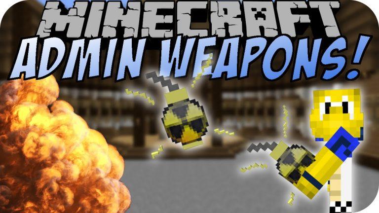 admin weapons minecraft mod