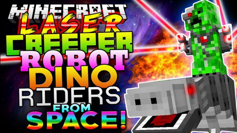 laser creeper robot dino riders minecraft mod