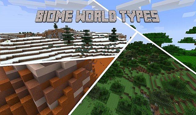 biome world types minecraft mod