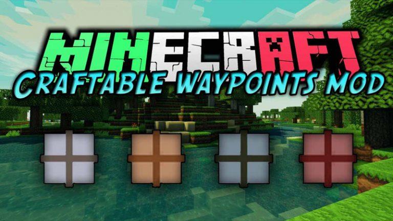 craftable waypoints minecraft mod