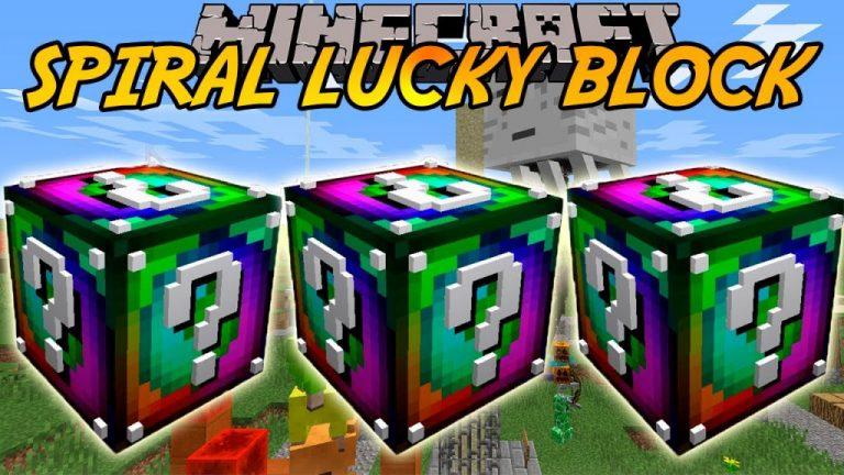 lucky block spiral minecraft mod