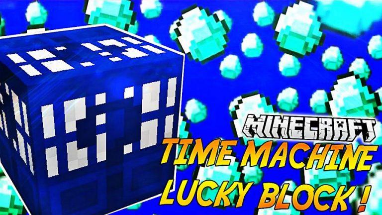 lucky block time machine minecraft mod