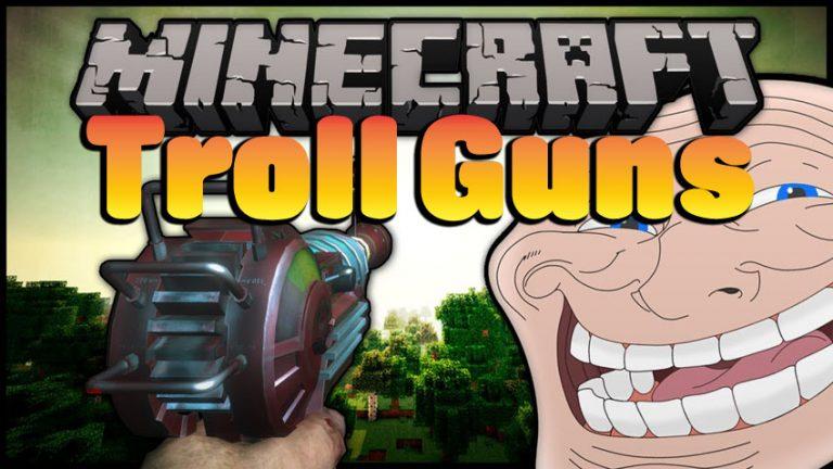 troll guns minecraft mod