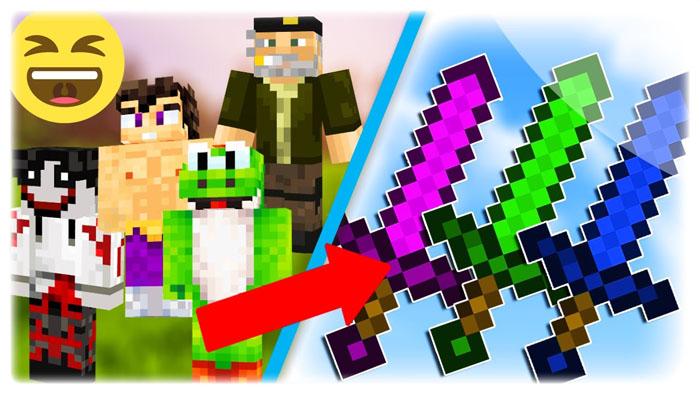 youtuber swords minecraft mod