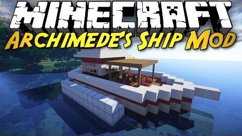 archimedes ships plus minecraft mod