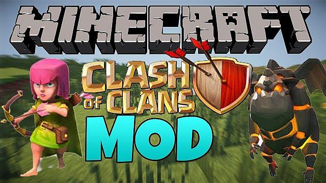 clash of clans minecraft mod