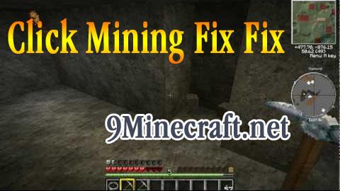 click mining fix fix minecraft mod