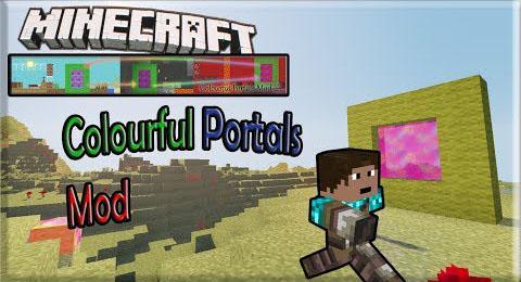 colourful portals minecraft mod