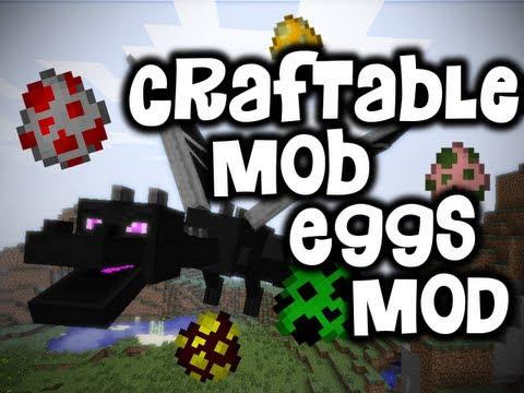 craftable mobeggs minecraft mod