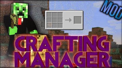 craftingmanager minecraft mod