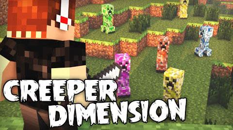 creeper dimension minecraft mod