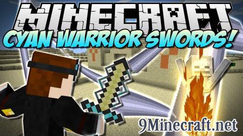 cyan warrior swords minecraft mod