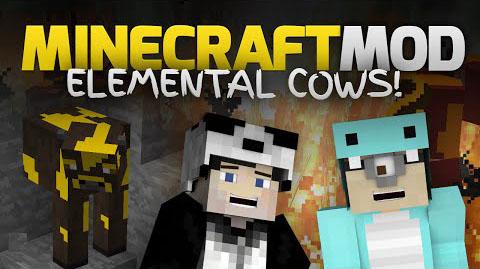 elemental cows minecraft mod