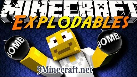 explodables minecraft mod