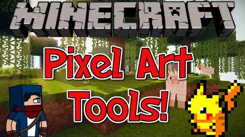 pixel art tools minecraft mod