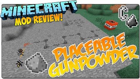 placeable gunpowder minecraft mod