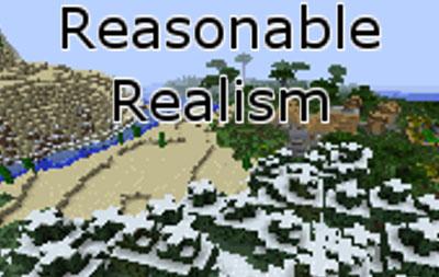 reasonable realism minecraft mod