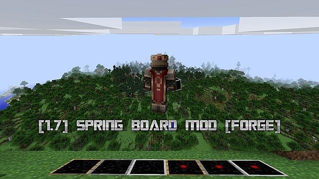 spring board minecraft mod