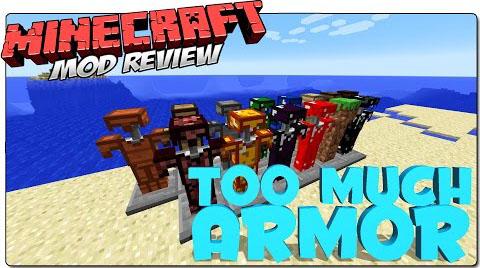 toomucharmor minecraft mod