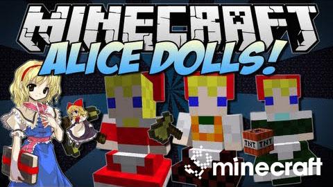 touhou alices doll minecraft mod