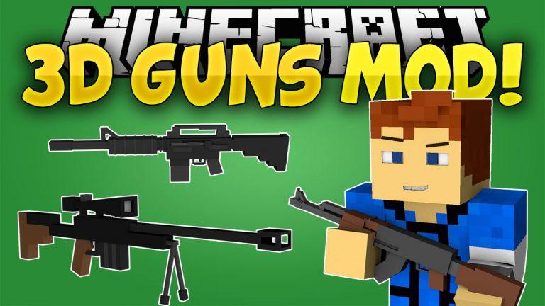 3d gun minecraft mod