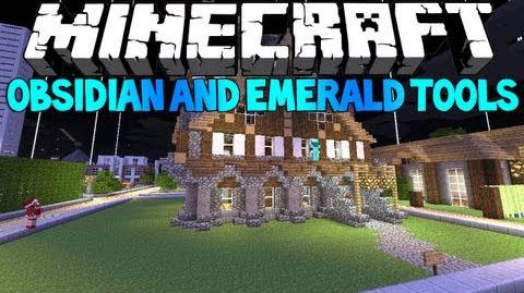 emerald and obsidian tools minecraft mod
