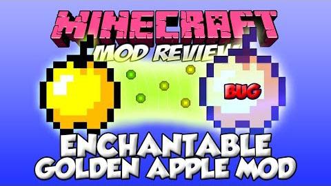 enchantable golden apples minecraft mod