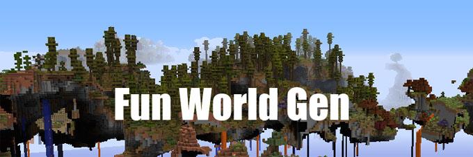 fun world generation minecraft mod