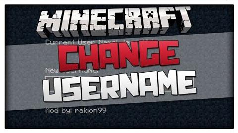 ingame username change minecraft mod