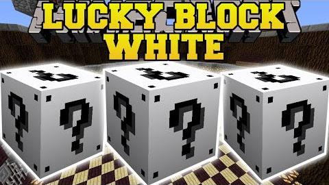 lucky block white minecraft mod