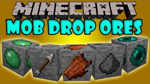 mob drop ores minecraft mod