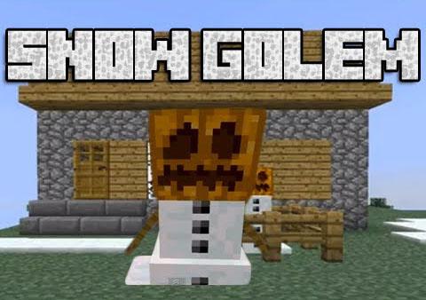 pumpkin less snow golem minecraft mod