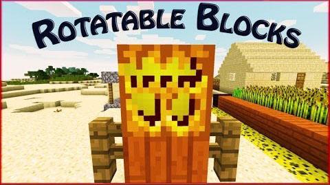 rotatable blocks minecraft mod