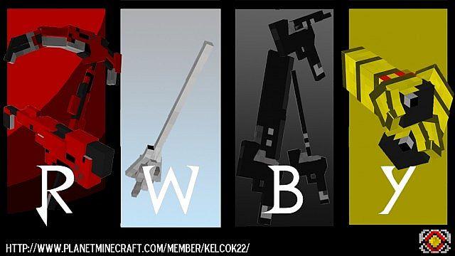 rwby craft minecraft mod