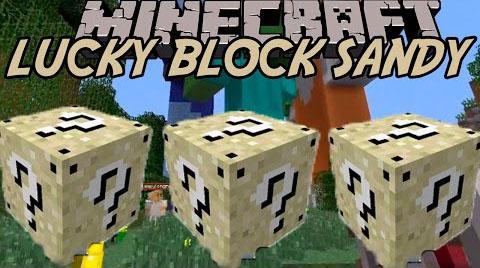 sandy lucky block minecraft mod