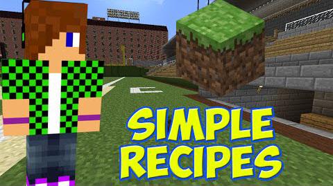simple recipes minecraft mod