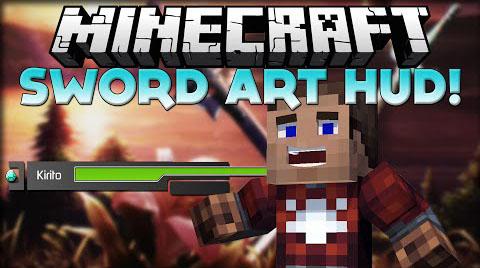 sword art online hud minecraft mod