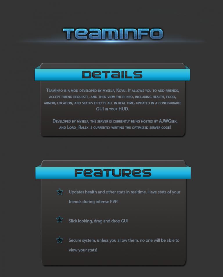 teaminfo minecraft mod