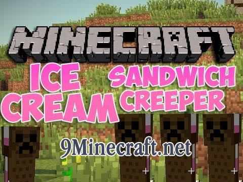 the ice cream sandwich creeper minecraft mod