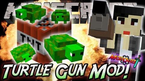 turtle gun minecraft mod