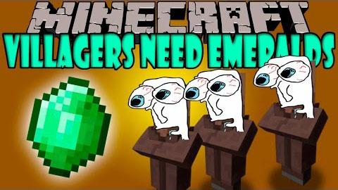 villagers need emeralds minecraft mod